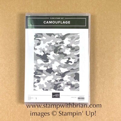 Camouflage Cling Stamp Set - NEW