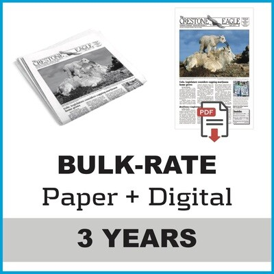 Crestone Eagle News - 3 Year Paper + Digital Subscription