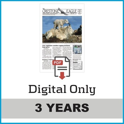 Crestone Eagle News - 3 Year Digital Subscription