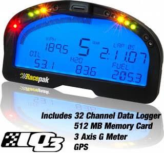RacePak IQ3 Logger Dash
