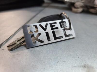 Overkill header tag keychain