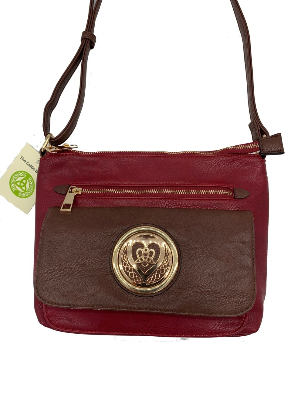 155 Two Tone Pocket Bag Red