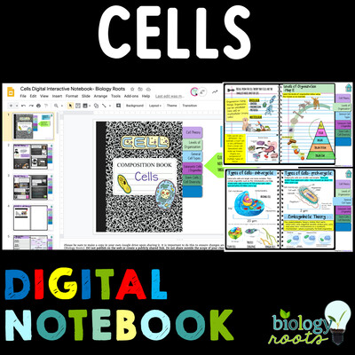 Cells Digital Interactive Science Notebook
