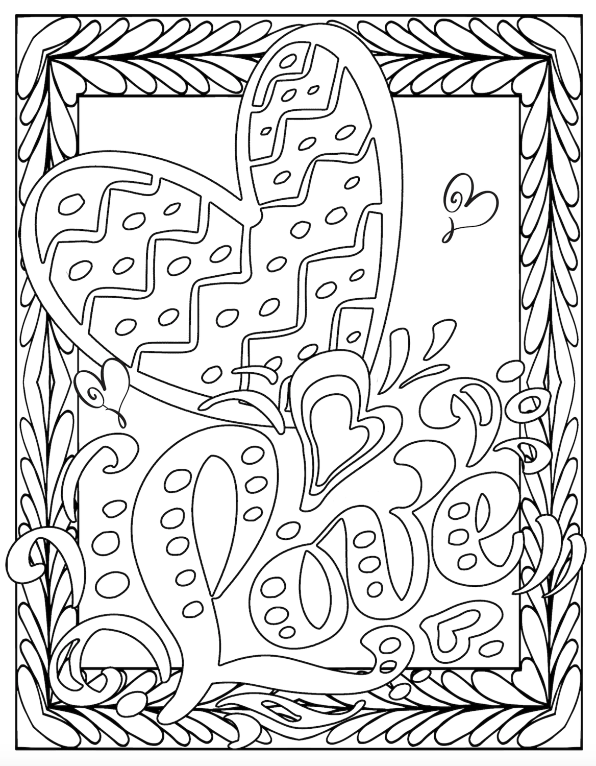 Valentine S Free Printable Love Coloring Pages