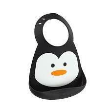 Makemyday Σαλιάρα σιλικόνης - Penguin