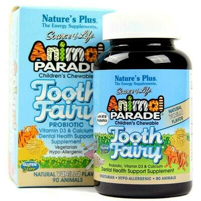 Natures Plus Animal Parade Tooth Fairy Chew. 90tabs
