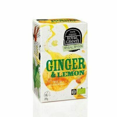 Royal Green Herbal Infusion Ginger & Lemon 28gr