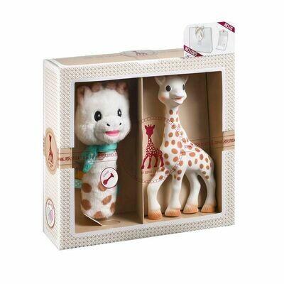 Sophie la girafe Σετ δώρου με την Σόφι και μια κουδουνίστρα