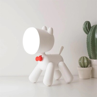 Allocacoc Waggy Puppy Lamp White
