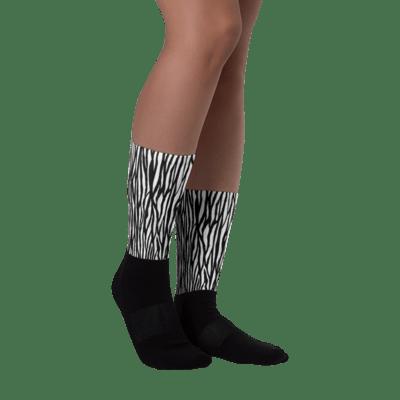 Tribe Brand Zebra Socks