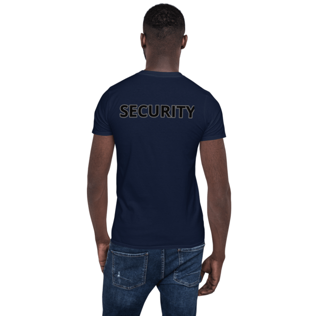 Tribe Brand SECURITY Short-Sleeve Unisex T-Shirt, Back