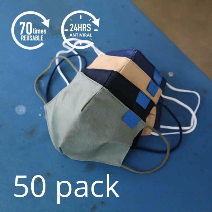 50 x AM99™ Antiviral Antibacterial Reusable Face-mask - 15% Discount + FREE Shipping