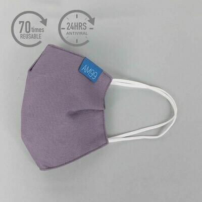 Face Mask AM99™ Antiviral Antibacterial Reusable 70 times - Purple