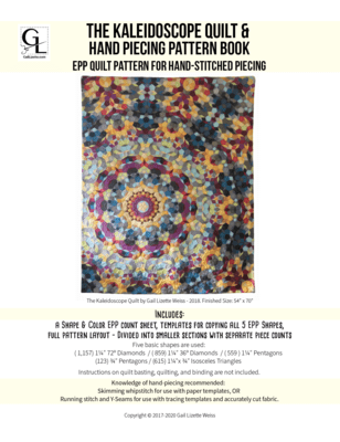 The Kaliedoscope Quilt EPP Pattern - PDF