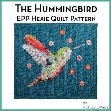 Hexie Hummingbird Quilt Pattern- PDF