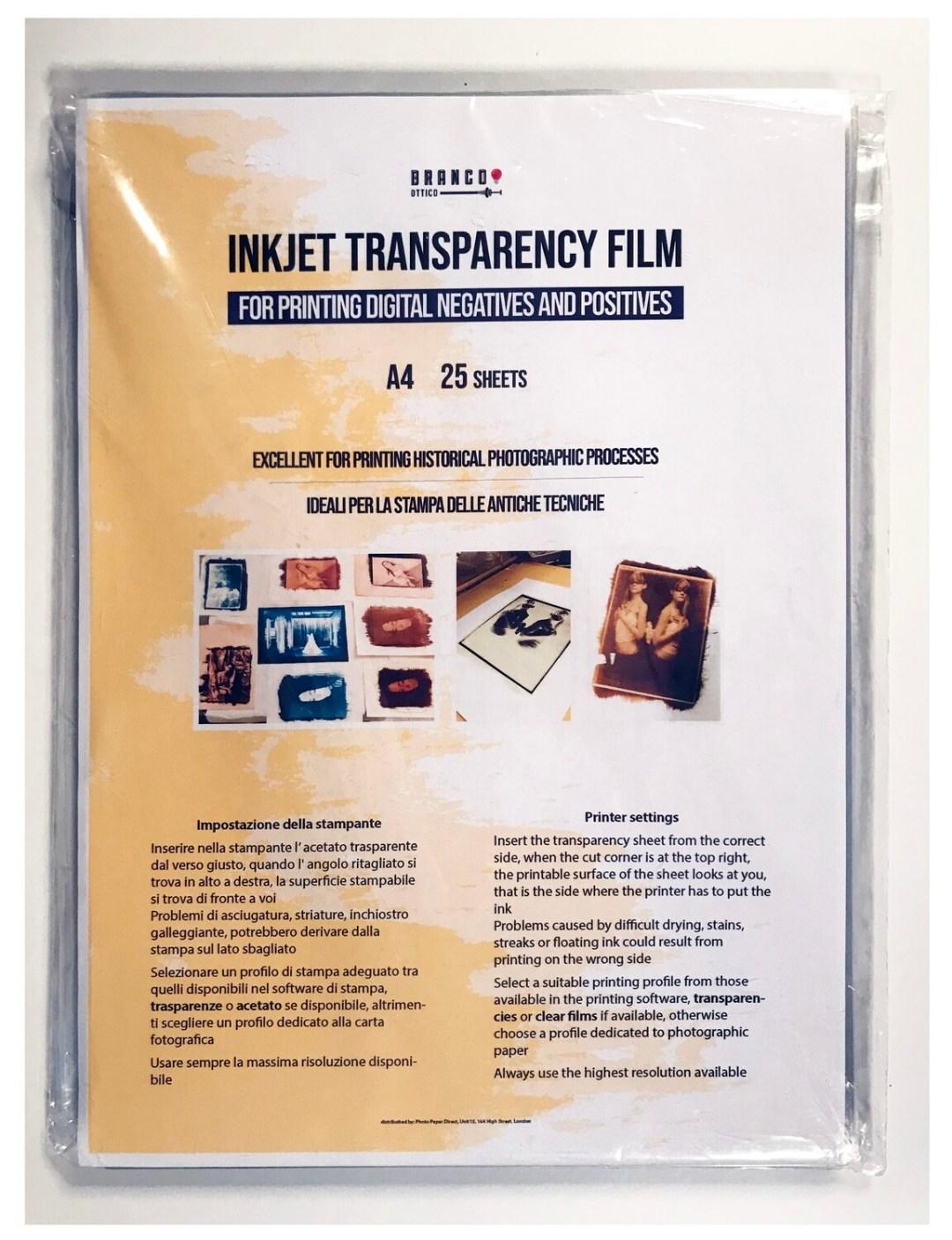 Inkjet Transparency Film