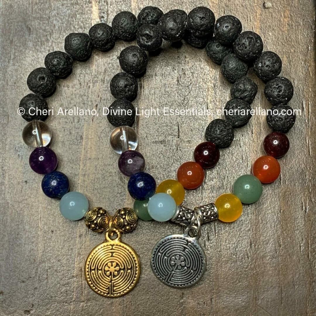Chakra Balancing Bracelet: Labyrinth