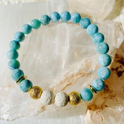 Larimar Simplicity Bracelet