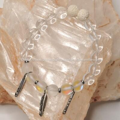 Clear Quartz Feather Healing Bracelet