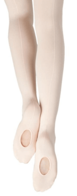 1918W Capezio Adult Seamed Soft Convertible Tights
