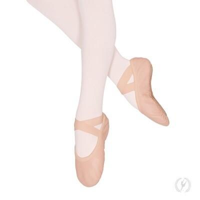 A2011C Eurotard Child Leather No Drawstring Ballet Slipper