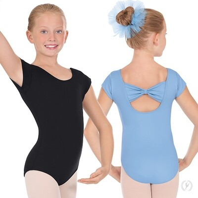 44286 Child Bow Back Cap Sleeve Leotard