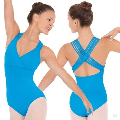 4493  Woven Lattice Back Leotard