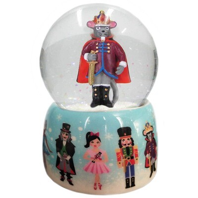 Musical Mouse King and Nutcracker Snow Globe