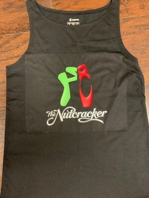 Nutcracker Tank with Red and Green Pointe Shoes