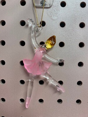 Glass Blown Ballerina Ornaments