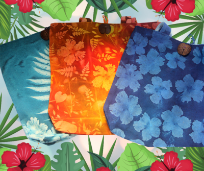 Sun printed handmade Tote bag