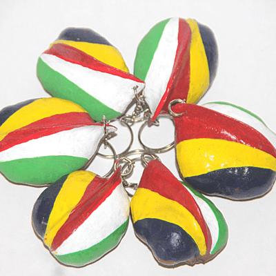 Nut-flag key-ring