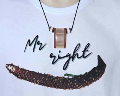 Swordfish bill pendant necklace