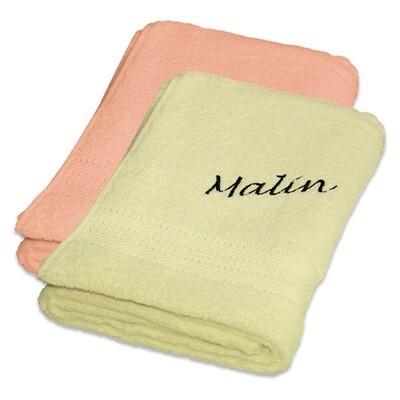 Håndkle med brodert navn standard 50x100 cm