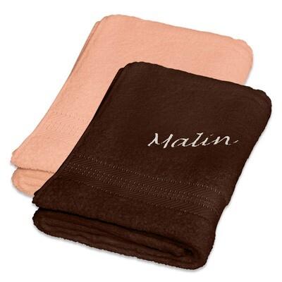 Håndkle med brodert  navn standard 70x140 cm