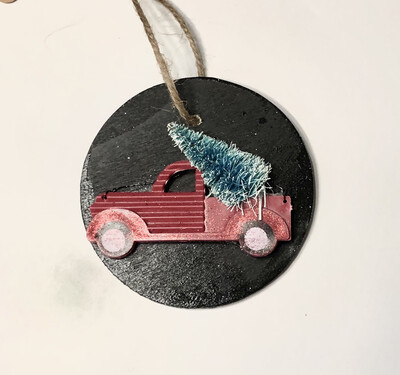 Truck Diffuser Ornament (black)