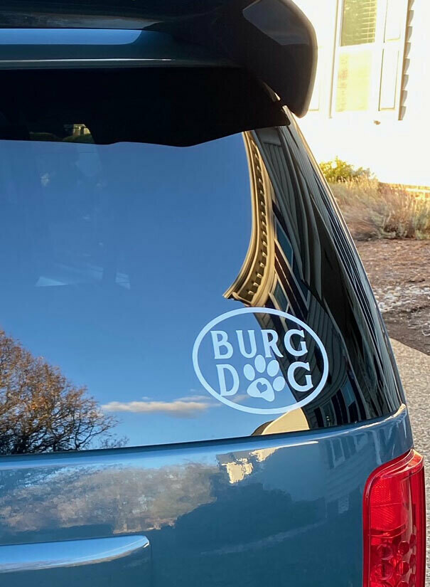 Burg Dog - Car Window Decal / Laptop Sticker