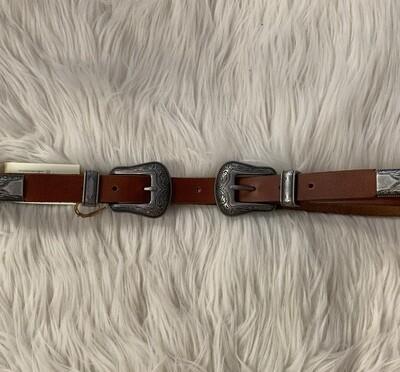 Double Buckle Belt Tan