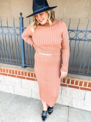 Cinnamon Midi Skirt