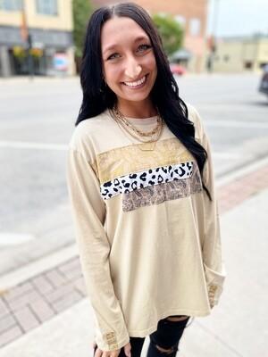 Leopard Mix Top