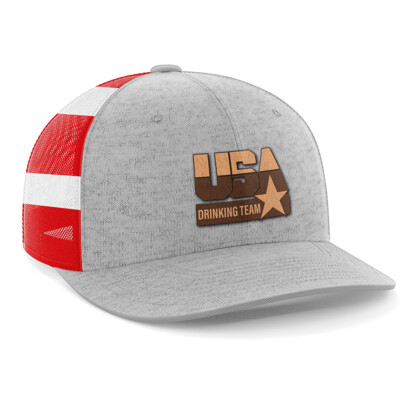Hat - Leather Patch: USA Drinking Team