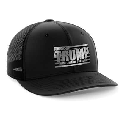 Hat - Black Leather Patch: Make Liberals Cry Again