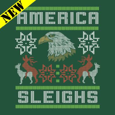 Sweatshirt - Christmas Sweater - America Sleighs