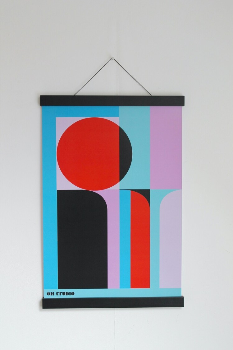 'Coloured Forms' A3 Print