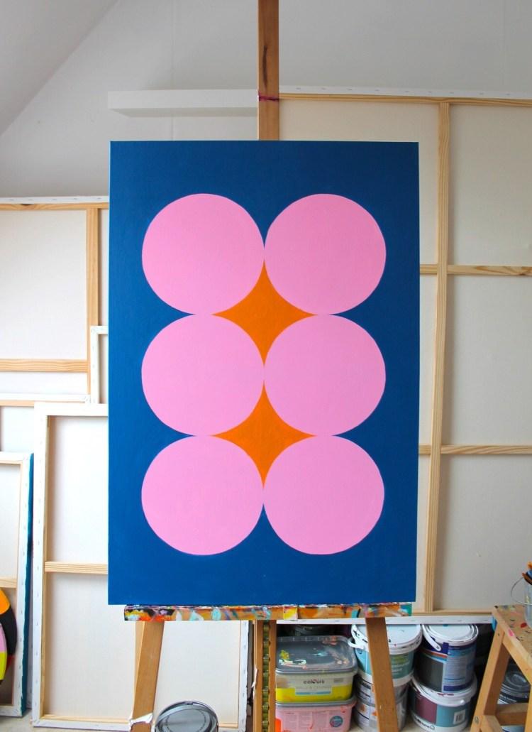 Six Pink Circles