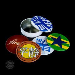 Firefly Metal Coasters in Tin
