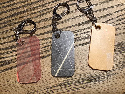 Color By Amber Prayer Leaves Key Chain