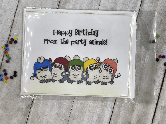 Happy Birthday from the Party Animals Greeting Card