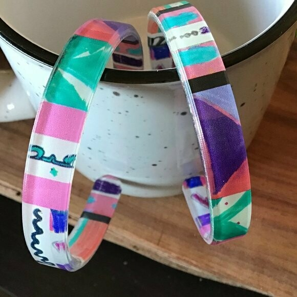 Moroccan Kids Hand Painted Thicky Bracelet