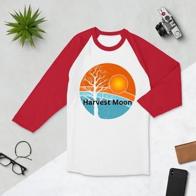 Harvest Moon 3/4 sleeve raglan shirt/ Fall/ Harvesting/ Farm/ Moon
